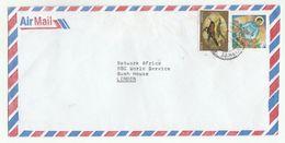 Air Mail  ZAMBIA COVER Stamps CHRISTMAS, SUNBIRD Bird Birds - Zambia (1965-...)