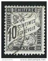 France Taxe N° 15 Noir 10 C - 1859-1955 Gebraucht
