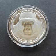 Congo, Gorilla 1 Oz 2016 Silver 999 Pure - 1 Oncia Argento Puro Bullion Scottsdale Mint - Kongo (Dem. Republik 1998)