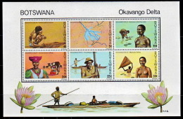 (057) Botswana  1978  Okavango  ** / Mnh  Michel BL 13 - Botswana (1966-...)