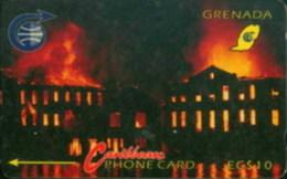 GRENADA : 004A EC$10 Financial Complex Fire USED - Grenada