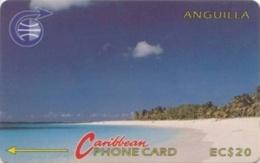 ANGUILLA : 003A EC$ 20  Beach + Old Logo USED - Anguilla