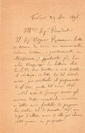 1896 LETTERA TORINO - Manuscripts