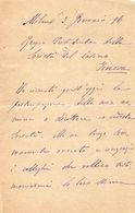 1896 LETTERA MILANO - Manuscripts