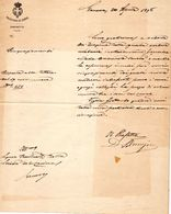 LETTERA  PREFETTURA DI  GENOVA - Manuscripts
