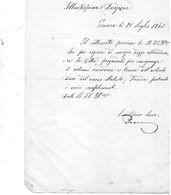 1865 LETTERA   GENOVA - Manuscripts