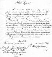 1845 LETTERA   GENOVA - Manuscripts