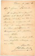 1880 LETTERA   GENOVA - Manuscripts