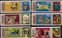 YAR  1968  Jeux Olympiques De Mexico  Michel 777-782 Oblitérés - Jemen
