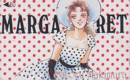 Télécarte Japon / 110-011 - MANGA - MARGARET By SATORU MAKIMURA - ANIME Japan Phonecard - 10145 - Comics