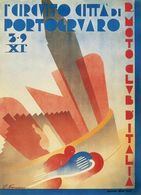 Motocycle Grand Prix Circuito Cittá Di Portogruaro 1931 - Postcard Reproduction - Pubblicitari