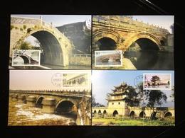 China MC-56 2003-5 SC#3267-70 Ancient Bridges Maximum Cards In Postal Fresh Condition - 1949 - ... People's Republic
