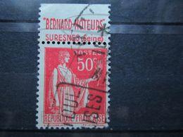 """VEND BEAU TIMBRE DE FRANCE N° 283 , TYPE IIA + BANDE PUBLICITAIRE """" BERNARD """" !!! (f) - Publicités"""