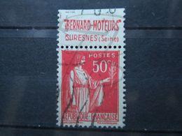 """VEND BEAU TIMBRE DE FRANCE N° 283 , TYPE IIA + BANDE PUBLICITAIRE """" BERNARD """" !!! (g) - Publicités"""