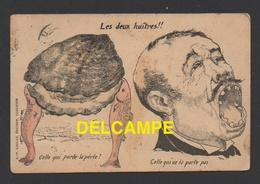 DD / HUMOUR POLITIQUE / LES DEUX HUITRES / CIRCULÉE EN 1905 ( R.P. LACLAU, EDITEUR, TOULOUSE ) - Humour