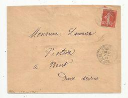 Lettre , 1911 , Deux Sèvres , ST LIGUAIRE - Storia Postale