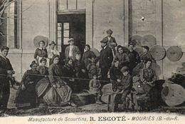 MOURIES Manufacture De Scourtins R. ESCORTE Carte Tres Rare - Francia