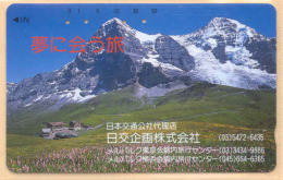 JAPAN Telefonkarte - Schweiz - Siehe Scan -110-105878 - Gebirgslandschaften