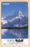 JAPAN Telefonkarte - Schweiz - Siehe Scan - - Gebirgslandschaften