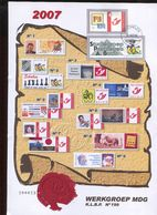 Belgie Buzin Birds Herdenkingskaart Met Duostamp Spab + MDG Mechelen 1/102007 (klein Scheurtje In Kaart, Zie Scan) - 1985-.. Birds (Buzin)