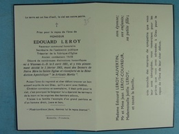 Edouard Leroy Wasmes-A.-B. 1891 1963 /35/ - Images Religieuses