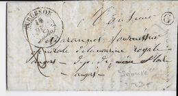 1846 - CREUSE - LETTRE De LA SEAUVE  BOITE RURALE G + T14 De AUBUSSON => ANGERS - 1801-1848: Précurseurs XIX