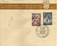 Yougoslavie/Yugoslavia FDC II Croatian Philatelic Exhibition.1941 Kamenita Gate & Century Cathedral - Zagreb - 1931-1941 Kingdom Of Yugoslavia