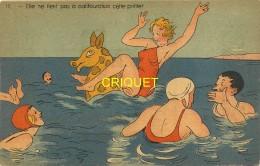 Illustrateur, Collection Nozais, Nantes, Elle Ne Tient Pas à Califourchon, Baigneuses...., N° 17 - Autres Illustrateurs
