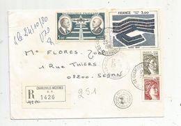 Lettre , 1980 , R , Recommandé CHARLEVILLE MEZIERES R.P. 1426 , Cachet : Préfecture Des Ardennes , SEDAN - Marcophilie (Lettres)