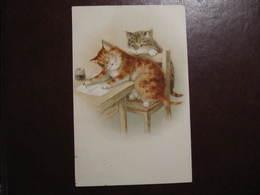 CPA - Illustrateur : A.F. LYDON - CHAT ECRIVANT - Cats