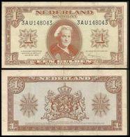 Nederland 1 Gulden 1945 Sn043 VF - [2] 1815-… : Kingdom Of The Netherlands