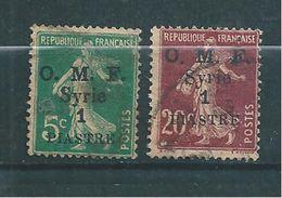 Colonie Francaise  Syrie,  Timbres De 1920  N°35 Et 36 Oblitérés - Syria (1919-1945)