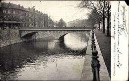 Cp Charleroi Wallonien Hennegau, La Sambre, Flusspartie, Brücke - Belgique
