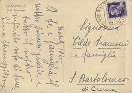 STORIA POSTALE LUOGOTENENZA - CARTOLINA ILLUSTRATA DA CREMA 23.12.1945 - Marcofilie