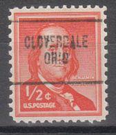 USA Precancel Vorausentwertung Preo, Locals Ohio, Cloverdale 704 - Vereinigte Staaten