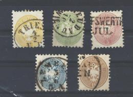 Mi. Nr. 30 - 34 Gestempelt - 1850-1918 Empire