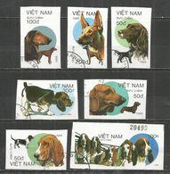 Vietnam 1989 , Used Stamps , Dogs Set  IMPERF. - Vietnam