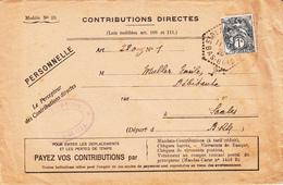 Env Affr Y&T 107 Obl ST BLAISE LA ROCHE Du 11.2.26 Adressée à Saales - Marcophilie (Lettres)