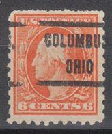 USA Precancel Vorausentwertung Preo, Locals Ohio, Columbus 212, Perf. 10x10, Perf. Not Perfect - Vereinigte Staaten