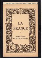 """1939 Pub.Marinier La France Par Provinces N° 18 """"Languedoc Sept."""" Carte 17é De Blaeu + Photos,Uzès,Ste Enimie,Roquefort, - Languedoc-Roussillon"""