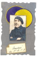 CHASSEUR ALPIN - 7° BATAILLON -  CPA FANTAISIE - AVEC AJOUTI TISSU GAUFFRE & STRASS - VOIR DEUX SCANS. - War 1914-18