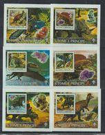 U61. MNH S Tome E Principe Nature Animals Prehistoric Animals - Prehistorics