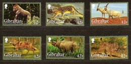 Gibraltar 2012 Yvertn° 1513-1518 *** MNH Cote 9 Euro Fauna Animaux Sauvages - Gibraltar