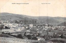 CPA [69] Rhône > Cours-la-Ville QUARTIER DE LA FARGETTE CARTE CIRCULEE - Cours-la-Ville