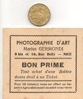 Ticket Ou Bon Donné Pour Achat Bobine, Photographe Marius GERMONDI à NICE (06) Alpes-maritimes - Photographie