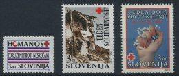 Slovenia 1992 - Red Cross -  MNH Michel Z1-Z3 (VALUE 1,90 EUR) - Slovenia