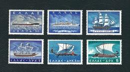 GRECIA 1958 - Marina Mercantile / Navi Greche - 6 Valori - MNH - Yt:GR 654-59 - Grecia