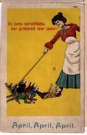 LATVIA.LETTLAND. April, April, April! PC 1911 - Latvia