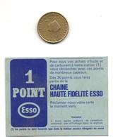 Petit Bon Ou Point Fédélité ESSO, Tampon Verso  Station Service ROQUEBRUNE-CAP - Transports