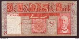 PAYS BAS - 25 Gulden Du 29 09 1938 - Pick 50 TB+ - [2] 1815-… : Kingdom Of The Netherlands